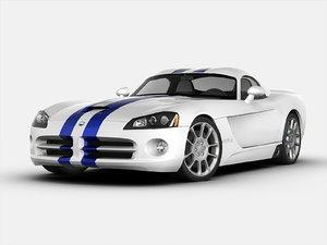 dodge car 3d model