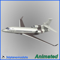 dassault falcon 7x private 3d 3ds