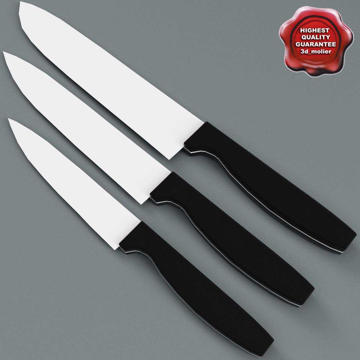 kitchen knives v2 3d max