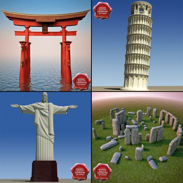 landmarks v7 3d model
