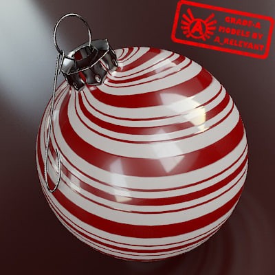 3d model of christmas tree ornament 2010