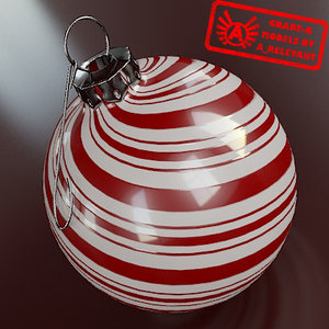 3d model of christmas tree ornament 2010