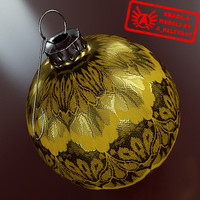 3d model christmas tree ornament 2010