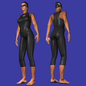 3dsmax female olympic swimmer swimming