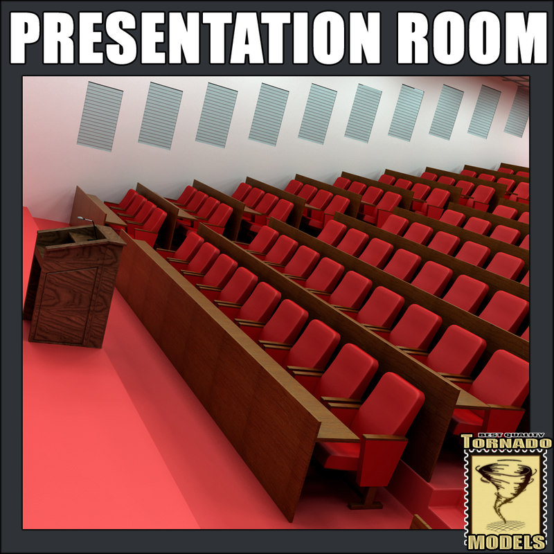 presentation room interior 3d model