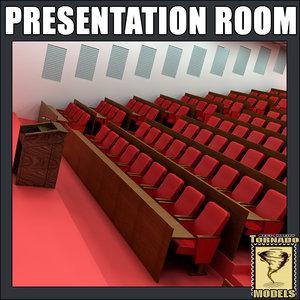 presentation room interior 3d model