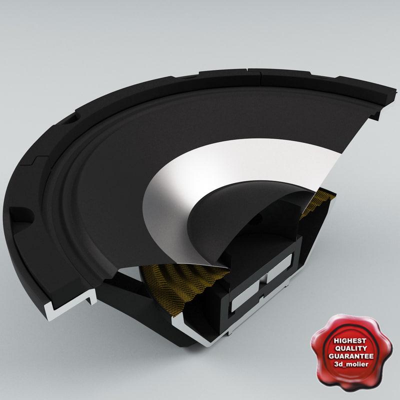 speaker cut 3d model
