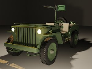 maya willys jeep browning1911 machine gun