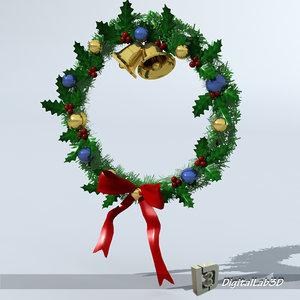 christmas wreath 3d c4d