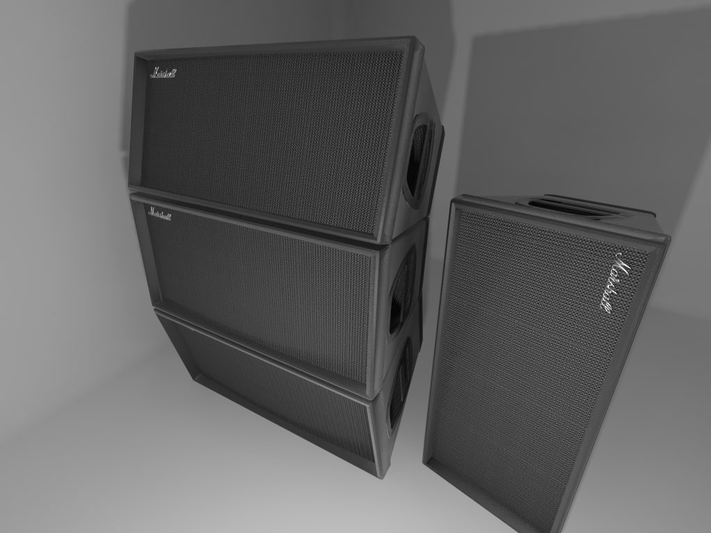 3d model of marshall speaker