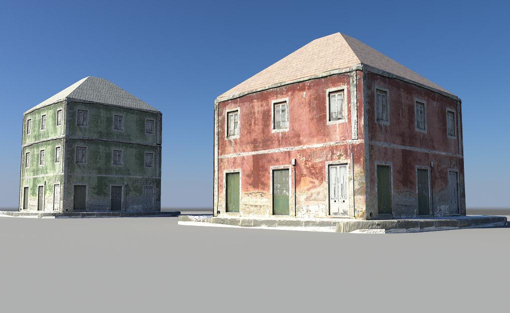 3d model 2 apartments