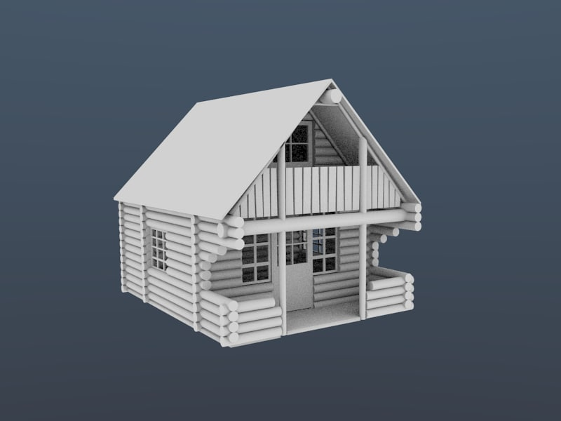 3dsmax log cabin