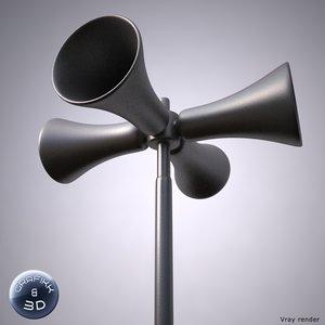 civil defense siren 3d model