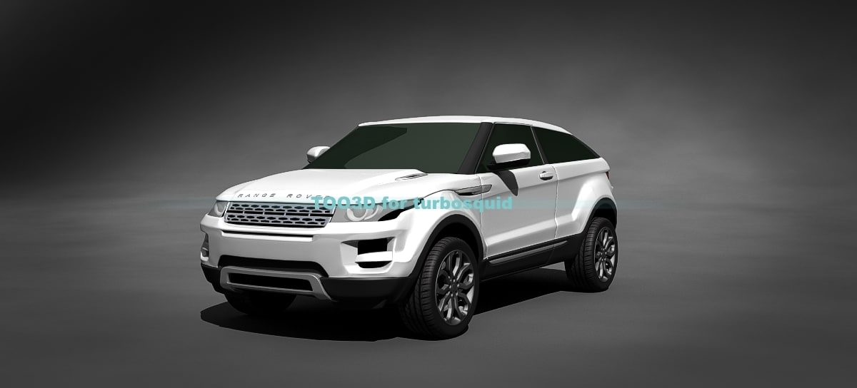 3d compact suv rover model