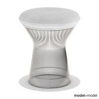 3dsmax platner stool knoll chair