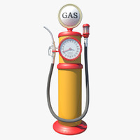 replica s gas pump 3d obj
