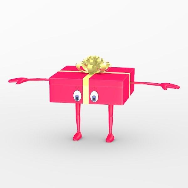 3d gift character model