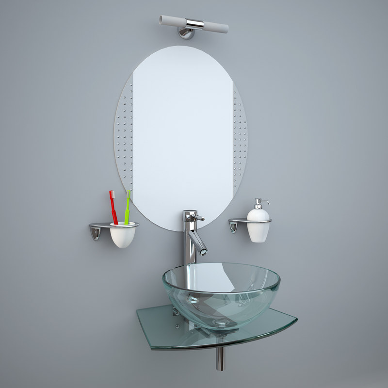 3d glass wash-basin accessories