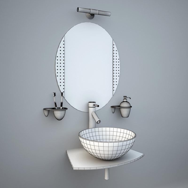 13d glass wash-basin accessories