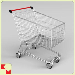 3d model shopping trolley
