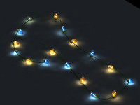 xmas light decoration 3d model