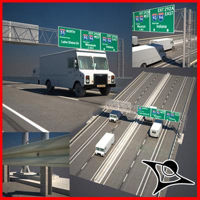 highway road 3d max