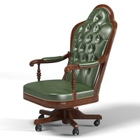 Mascheroni Embassy classic  office work task boss big executive luxury tufted chair armchair stool