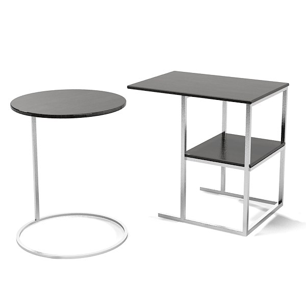 Meridiani Modern Contemporary Side Table Rectangular Square Round  Minimalistic