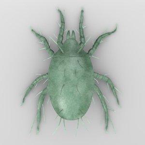 3d model dermanyssus mite
