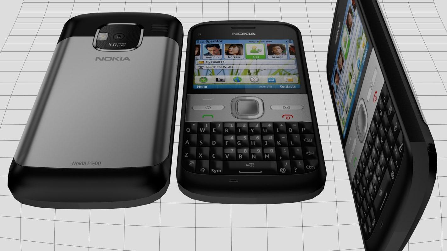 3d mobile nokia e5 model