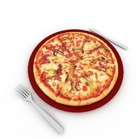 pizza table 3d max