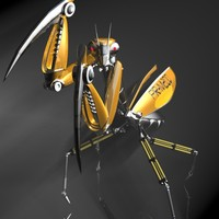 Praying Mantis Robot RIGGED