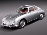 porsche 356a 356 sport 3d model