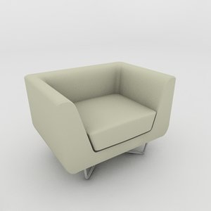 3d model kmp bellino armchair