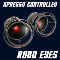 3d xpresso controlled robotic eyes