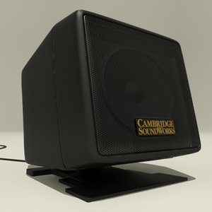 3d model satellite pc speaker