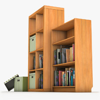 c4d books shelves shelf