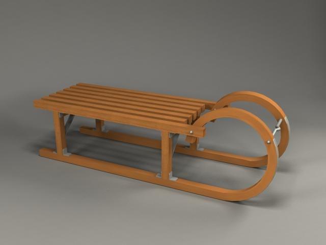 3d model sleigh sled