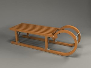 3d model sleigh sled