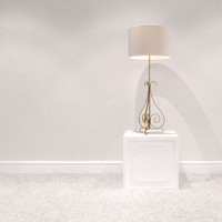 3d table lamp scroll