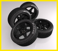 cinema4d black rim tire tyre
