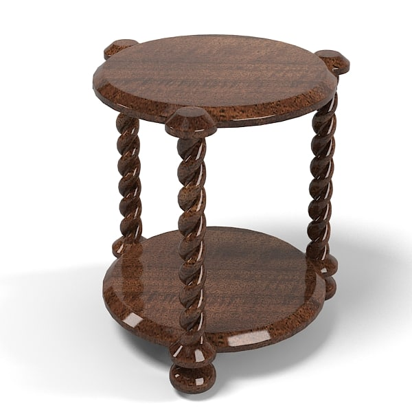 3d model traditional table classic