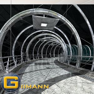 tunnel corridor 3d max