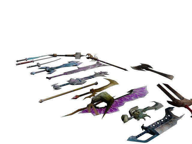 3d model weapons