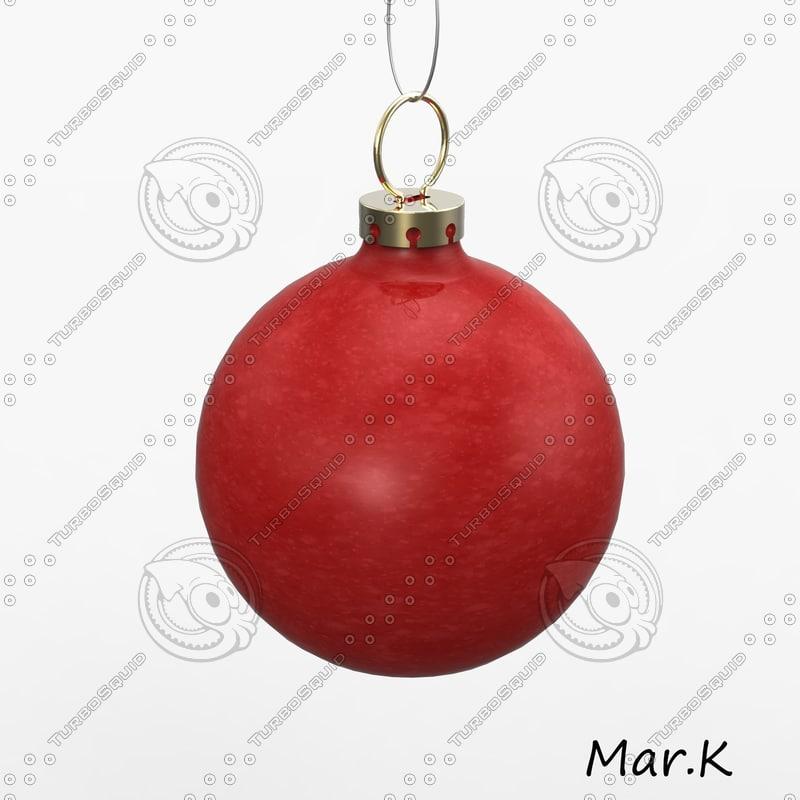 christmas bulb 3ds