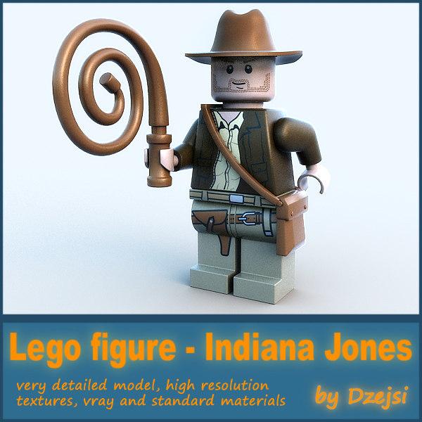 3d 3ds lego character - indiana jones