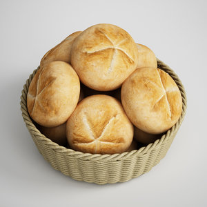 3d basket buns model