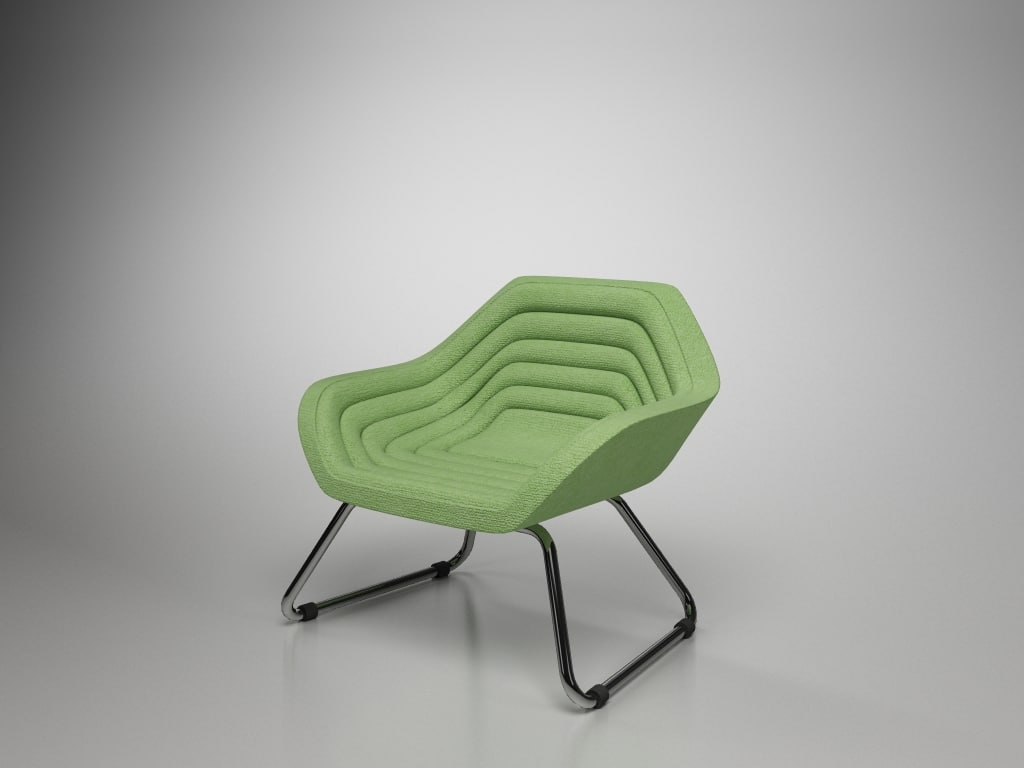 3d model sphaus offseat armchair