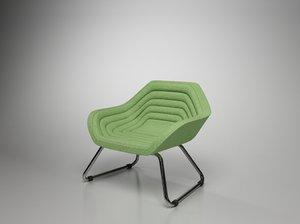 3d model sphaus offseat armchair