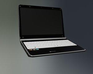 3d model packardbell laptop